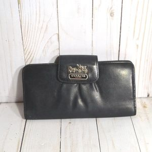 Coach Black Bi  Fold Wallet